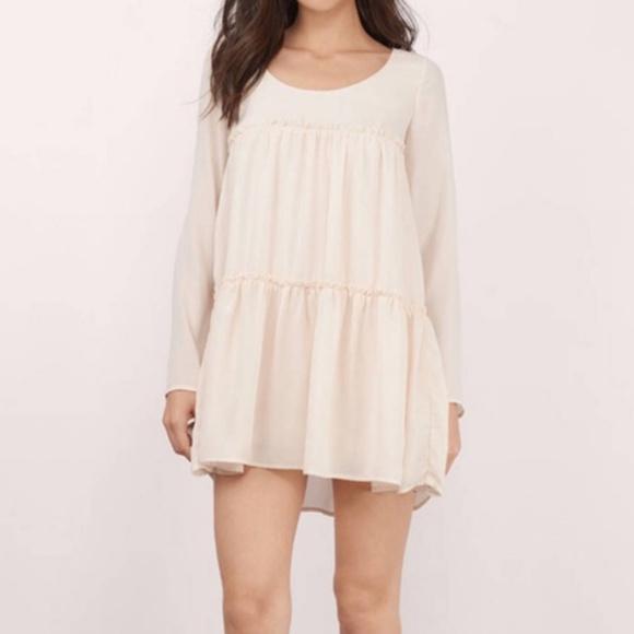 3d4108521138b Tobi Dresses   Boho Chic Cream Flowy Mini Dress Tunic   Poshmark